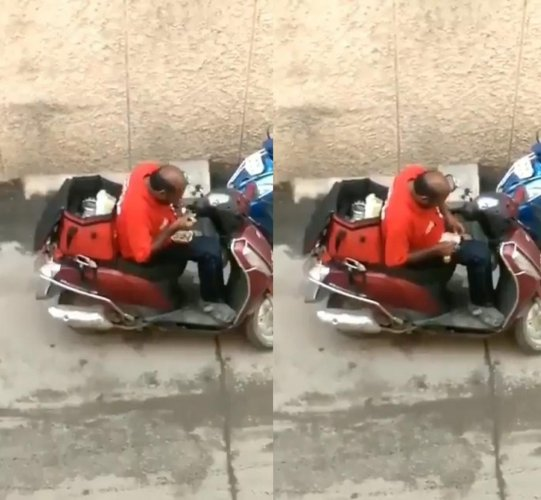A video of a delivery executive who was seen eating out of delivery packets and repacking them, has received mixed responses on social media.