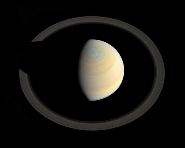 Saturn, the second-largest planet of the solar system. (Image courtesy NASA Website)