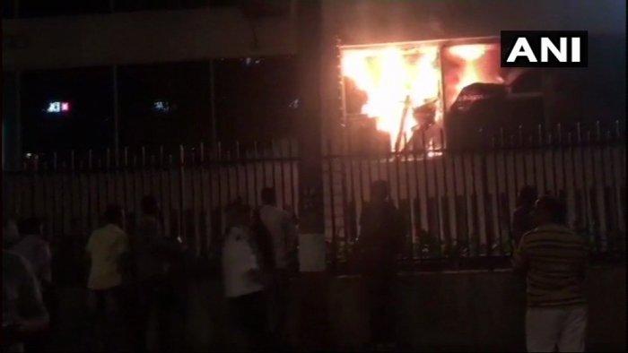 The fire started around 11.15 pm, the Mumbai civic body's disaster management unit said. ANI photo