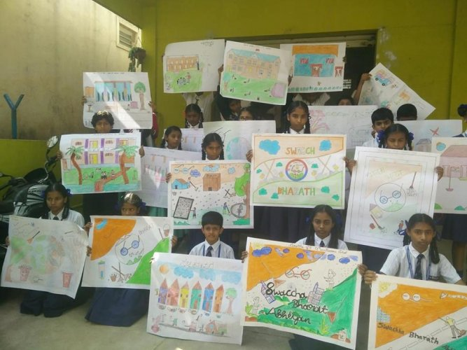 Swaccha in one of their school workshops on waste segregation.