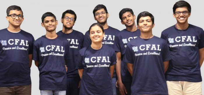Students of CFAL, who are selected for Karnataka Regional Mathematics Olympaid (KRMO)2018.