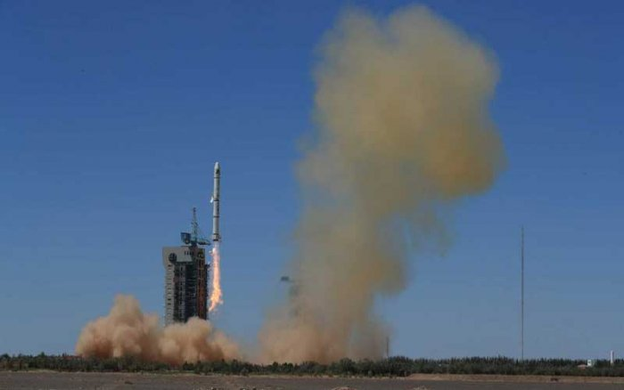 The satellite was launched from a Long March 11 carrier rocket from the Jiuquan Satellite Launch Centre in north-western China and is the first in the Hongyun project planned by China Aerospace Science and Industry Corp (CASIC). (File Photo)
