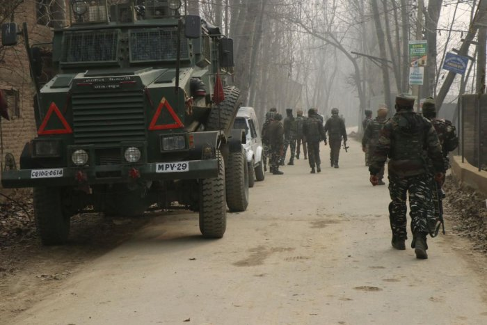 Asthe forces were conducting searches, militants fired upon them, triggering the encounter. (DH File Photo)