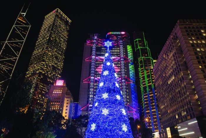 The Statue Square Christmas Tree, Hong Kong