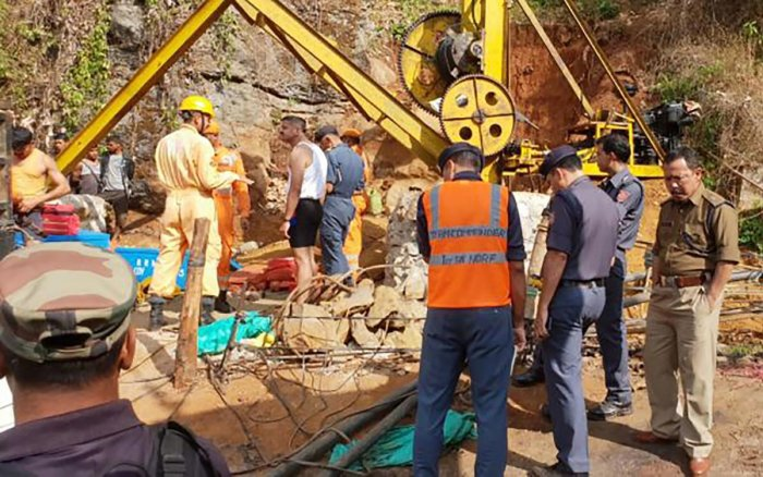 The miners were trapped after water from the nearby Lytein river gushed into the illegal rat-hole mine at Ksan area in Lumthari village. (AFP File Photo)
