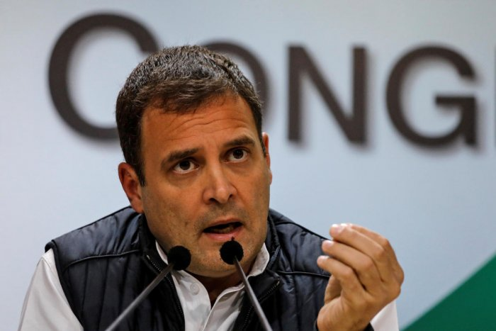 """In a post on his official Facebook page, Gandhi stated that """"democracy frustrates the BJP"""". (Reuters File Photo)"""