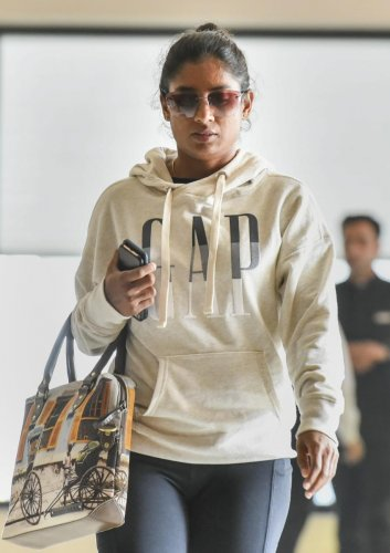 Mithali Raj arrives for the selection meeting to pick the squad for New Zealand tour in New Delhi on Friday. PTI