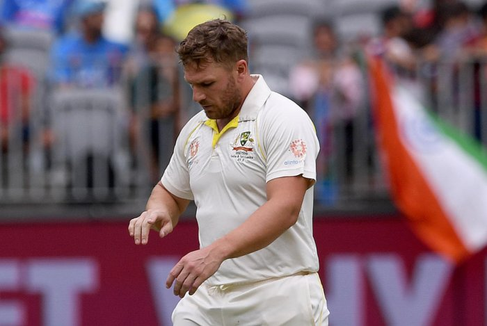 Finch was on 25 in Australia's second innings during the second Test in Perth when his right index finger was jammed by a brutal delivery from India fast bowler Mohammed Shami that left with bone visible. (Reuters File Photo)
