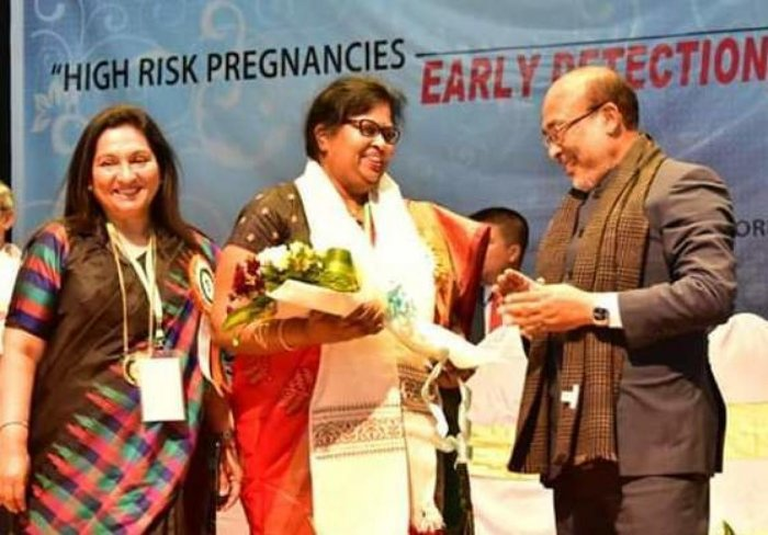 Manipur CM N Biren Singh at the convention of Obstetrics and Gynecological Society, in Imphal on Saturday.