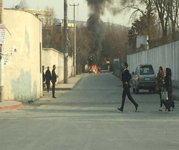 An Afghan security source said the gunmen had entered the office of the Ministry of Labor, Social Affairs, Martyrs and Disabled. (Twitter)