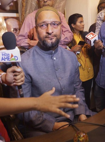 In a tweet on Sunday, Owaisi said Khan should instead take a lesson from India's inclusive politics and minority right. PTI file photo