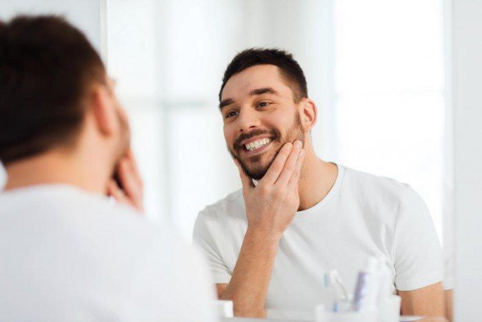 Beard hair is coarser than the hair on your head.