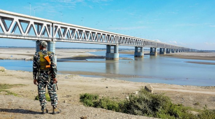 India on Tuesday opened its longest railroad bridge in a poor northeastern state as part of efforts to boost defences on its sensitive border with China. PTI photo