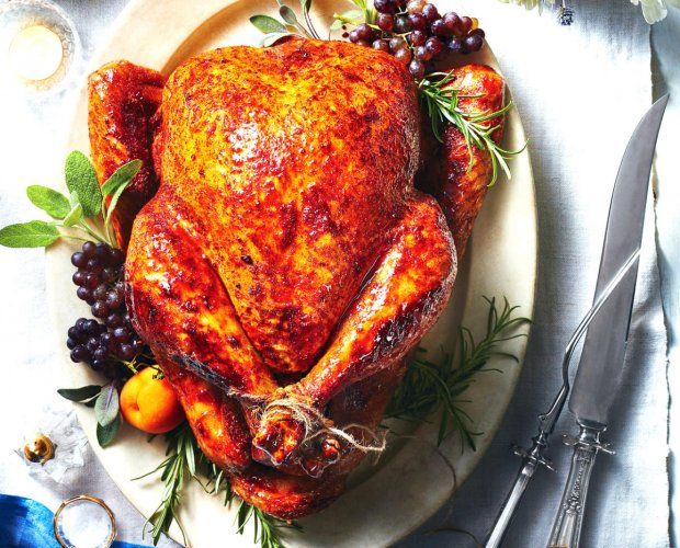 Roasted turkey, a classic Christmas meal