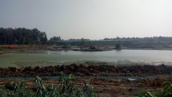 Separate sewage lines have been laid out and the existing sewage inflow into the lake is being diverted through the lines. Special arrangement