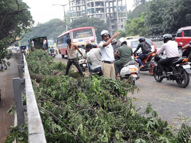 The BBMP is repairing the 2.6-km flyover as the road has been excessively used by commuters. DH File Photo for representation purpose