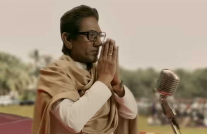 The biopic features Nawazuddin Siddiqui as Bal Thackeray. Still from the trailer
