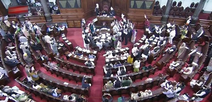 A couple of members from Andhra Pradesh too were in the well of the House demanding special status for the state. (File Photo)