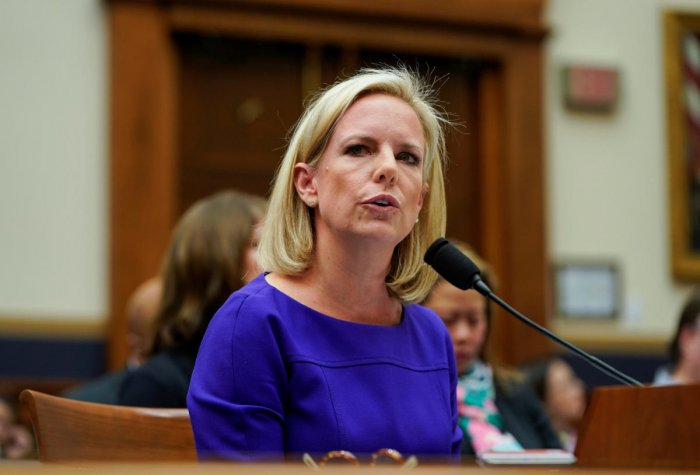 U.S. Secretary of Homeland Security Kirstjen Nielsen testifies to a House Judiciary Committee hearing on oversight of the Department of Homeland Security on Capitol Hill in Washington. (Reuters Photo)