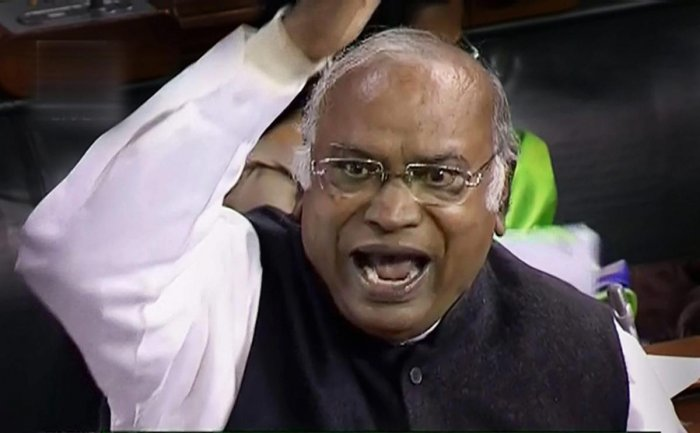 As soon as the House met at 2 pm after an adjournment to take up the Muslim Women (Protection of Rights on Marriage) Bill, Leader of the Congress in the Lok Sabha Mallikarjun Kharge said that it be referred to a joint select committee of the two Houses fo