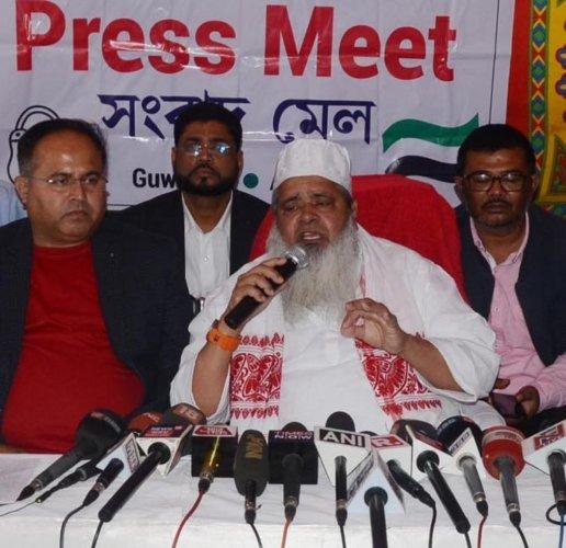 Maulana Badruddin Ajmal, Dhubri MP and chief of All India United Democratic Front. DH Photo/ Manash Das