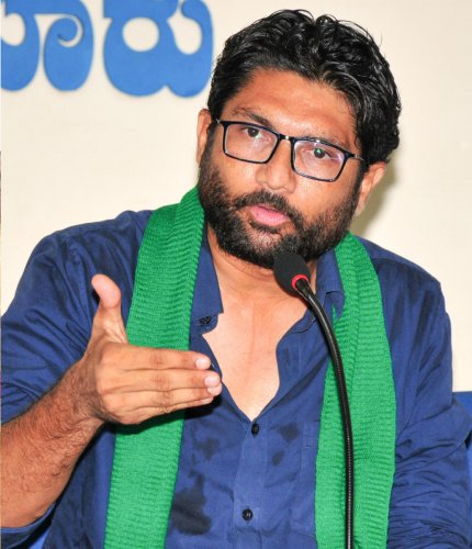 Mevani had come to meet the activists after visiting hours on Thursday evening, therefore, he was not allowed a meeting, Jail Superintendent A K Saxena said. (DH File Photo)