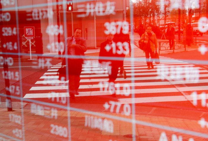 In Tokyo, stocks were trading 0.5 percent lower by the break despite a late rally in New York, as investors cashed in after the previous day's strong rises.
