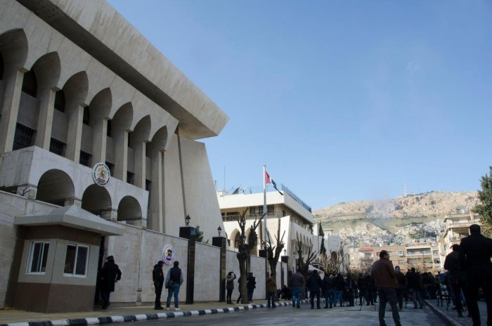 The United Arab Emirates embassy is pictured in the Syrian capital Damascus on December 27, 2018 after its reopening, the latest sign of efforts to bring the Syrian government back into the Arab fold. (AFP Photo)