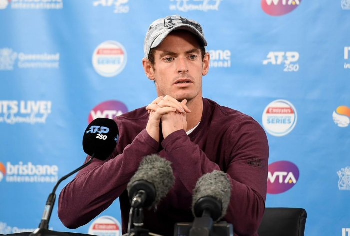 Andy Murray of Britain attends a press conference at the Queensland Tennis Centre in Brisbane on December 28, 2018, ahead of the Brisbane International tennis tournament. (AFP Photo)