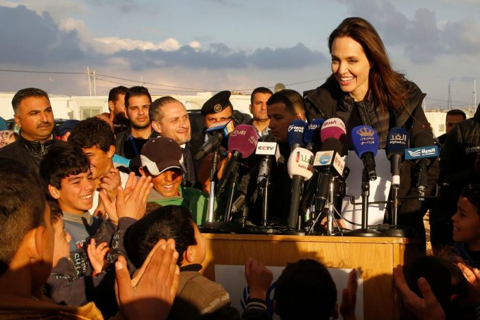 Angelina Jolie has hinted that she is fine with the idea of joining politics in future. AFP file photo