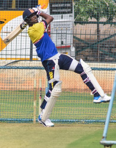 HERE I COME!: Off-spinning all-rounder K Gowtham, who fashioned Karnataka's win over Railways in the previous game, will be looking to produce another strong show against Chhattisgarh. DH PHOTO/ SK DINESH