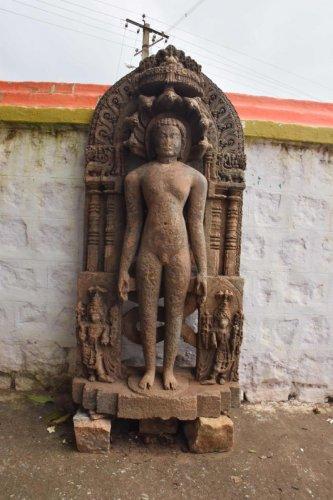 timeless: Makodu Parshwanath Temple, Mysuru; a copper plate inscription dating to 1805; Chatarmukha Jain idol at Haveri; (below) idol at the Parshwanath Temple.