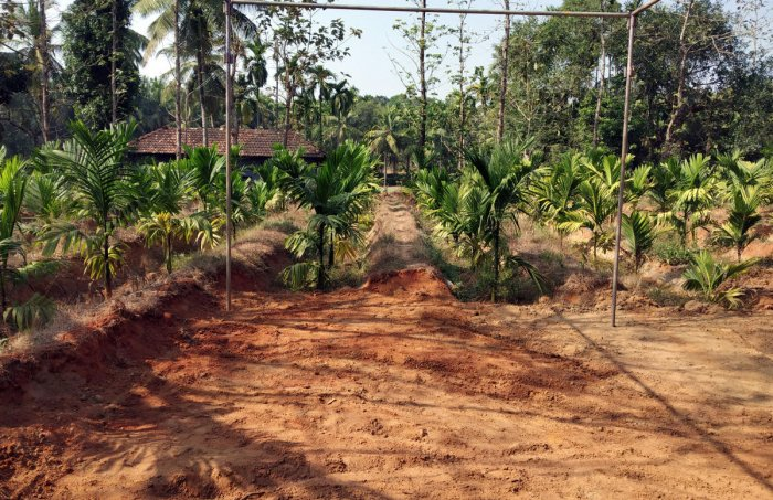 The Rai farm house at Yadadi-Matyadi village in Kundapura taluk, where IPS officer Madhukar Shetty will be cremated.