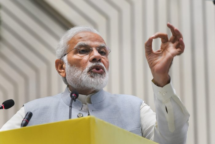 BJP is seeking to project the 2019 poll battle as Modi versus all ganged those up against him