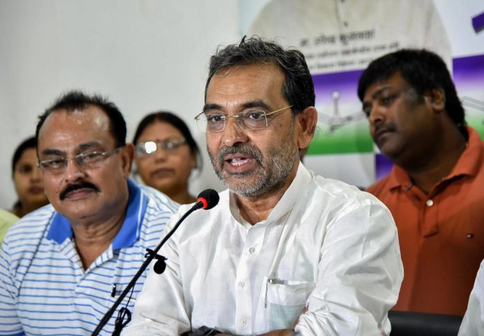 Kushwahadid not disclose the number of seats offered to the RLSP, saying he would not speak about it before a seat-sharing agreement is reached by NDA constituents in Bihar by November 30. (PTI File Photo)