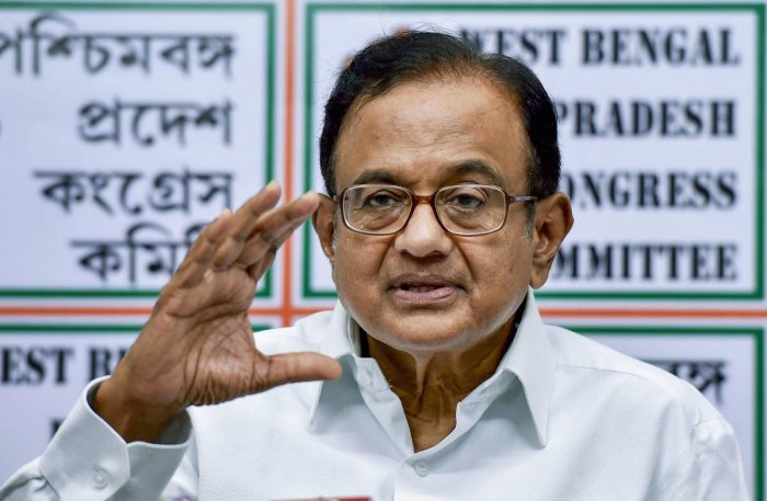 Senior Congress leader P Chidambaram. PTI file photo