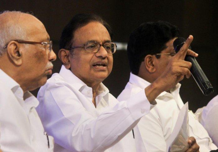 P Chidambaram, Chairman, Manifesto Committee for Lok Sabha polls, Indian National Congress. (PTI file photo)