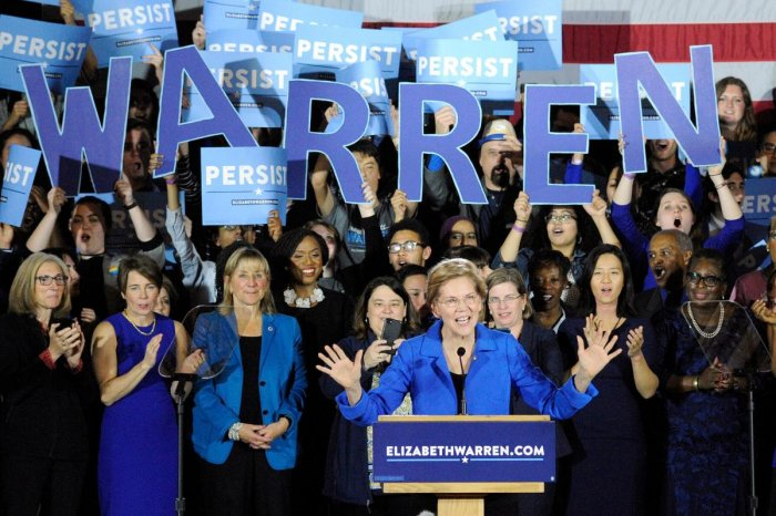 US Senator Elizabeth Warren, known as a liberal firebrand in her party, released a video in which she outlines her vision of a path to opportunity for all Americans, not just the wealthy. AFP Photo