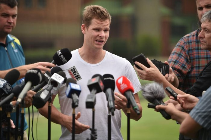SPEAKING HIS MIND: Former Australian cricket captain Steve Smith addresses the media at the Sydney Cricket Ground on Friday. AFP