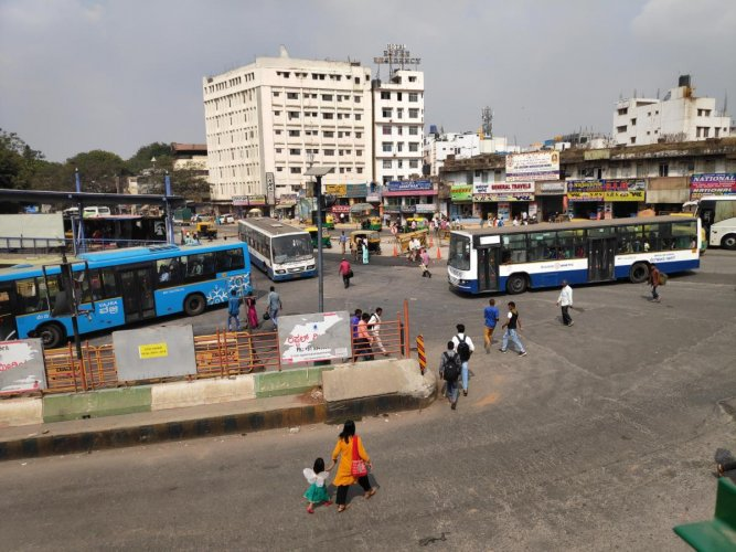 KSRTC looks to decongest the entry and exit points of the bus station.