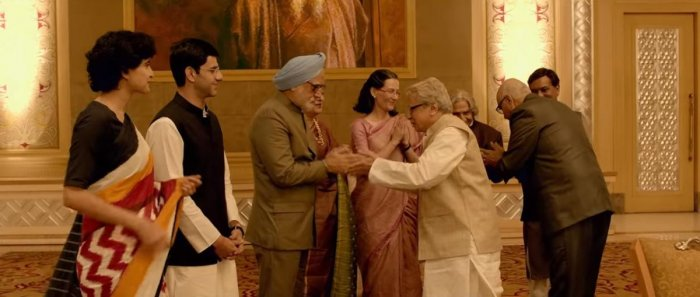 """Still from the trailer of the film: """" The accidental prime minister"""". Youtube."""