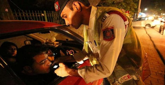 The drunk revellers were taken to marriage and convention halls that were booked by the traffic police the previous night. All were detained for about two to three hours. They were offered drinking water to sober themselves down.