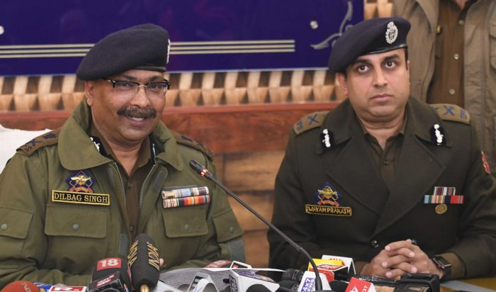 """""""A section of youth is being radicalized otherwise presence of ISIS is not that big in Kashmir,"""" Director General Police (DGP) Dilbagh Singh said while addressing a press conference in Jammu. (File Photo by Umer Asif)"""