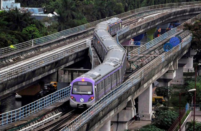 Services were stalled earlier in the day following a suicide attempt by a passenger at around 9.15 am at the Dum Dum Metro Station in north Kolkata. (PTI File Photo for Representation)