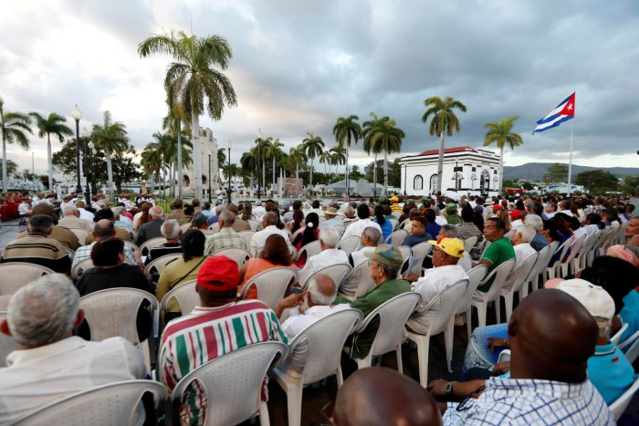 View of the meeting in Santa Ifigenia cemetery in Santiago de Cuba, on January 01, 2019, during the celebration of the 60th Anniversary of Cuban Revolution. (Ernesto MASTRASCUSA/Pool via REUTERS)