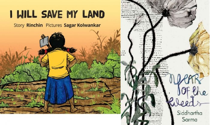 In Rinchin's picture book, a little girl named Mati asks her father and grandmother for her own piece of land in the field where they work.
