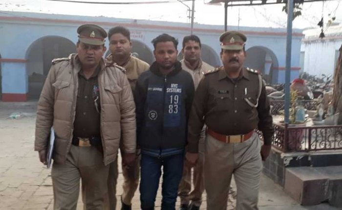Police arrests Yogesh Raj, the main accused in Bulandshahr violence case. (ANI photo)