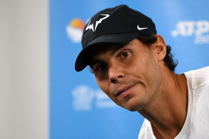 Rafael Nadal of Spain attends a press conference at the Brisbane International tennis tournament in Brisbane on January 1, 2019. (AFP Photo)
