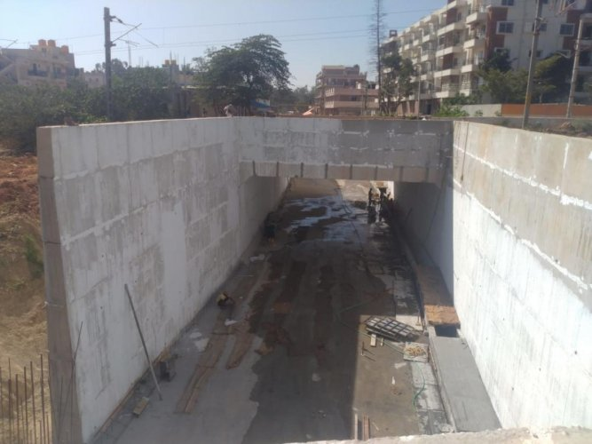 The road underbridge is being built on the stretch that connects Kadugodi and Channasandra junction, which is the main link to Hope Farm, Hoskote, Devangonthi and Chikka Tirupati.