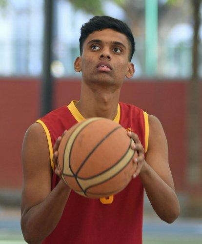 HARD WORKER Karan Kumar has represented Karnataka at the Sub-junior and Youth Nationals. DH Photo/ Srikanta Sharma R